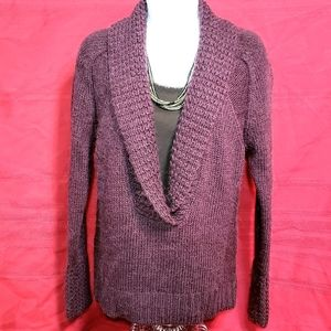 Loft Plum V-Neck Sweater